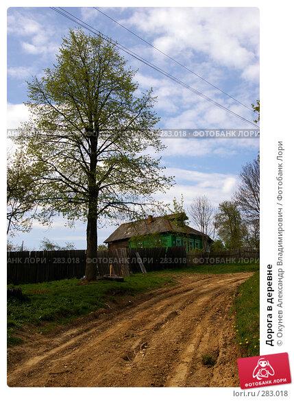 Дорога в деревне, фото № 283018, снято 9 мая 2008 г. (c) Окунев Александр Владимирович / Фотобанк Лори