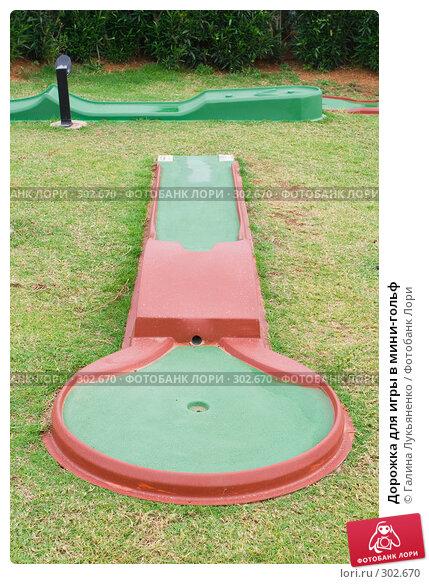Купить «Дорожка для игры в мини-гольф», фото № 302670, снято 11 мая 2008 г. (c) Галина Лукьяненко / Фотобанк Лори