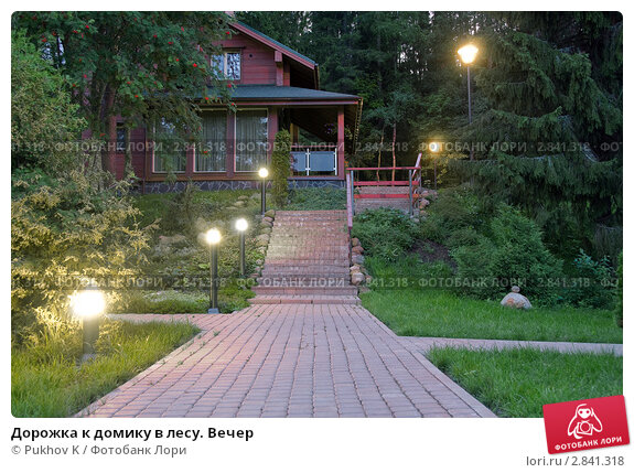 Купить «Дорожка к домику в лесу. Вечер», фото № 2841318, снято 26 июня 2019 г. (c) Pukhov K / Фотобанк Лори