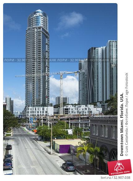 Downtown Miami. Florida. USA. Стоковое фото, фотограф Luis Castañeda / age Fotostock / Фотобанк Лори