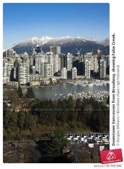Downtown Vancouver from Broadway, showing False Creek. Стоковое фото, фотограф Douglas Williams / age Fotostock / Фотобанк Лори