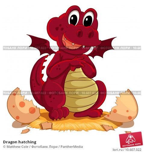 Dragon hatching. Стоковая иллюстрация, иллюстратор Matthew Cole / PantherMedia / Фотобанк Лори