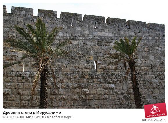Древняя стена в Иерусалиме, фото № 262218, снято 22 февраля 2008 г. (c) АЛЕКСАНДР МИХЕИЧЕВ / Фотобанк Лори
