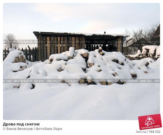 Дрова под снегом, фото № 184102, снято 3 января 2008 г. (c) Бяков Вячеслав / Фотобанк Лори
