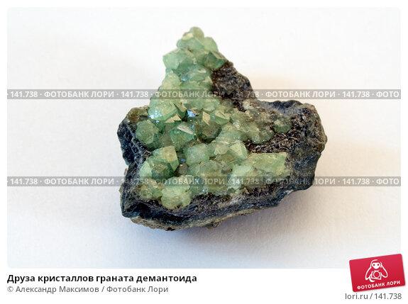 Друза кристаллов граната демантоида, фото № 141738, снято 23 марта 2006 г. (c) Александр Максимов / Фотобанк Лори