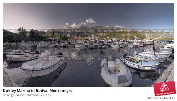 Купить «Dukley Marina in Budva, Montenegro», фото № 30442438, снято 10 июля 2018 г. (c) Sergii Zarev / Фотобанк Лори
