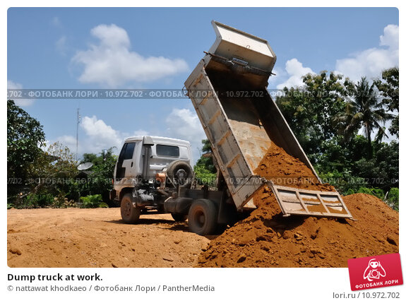 Купить «Dump truck at work.», фото № 10972702, снято 11 декабря 2017 г. (c) PantherMedia / Фотобанк Лори