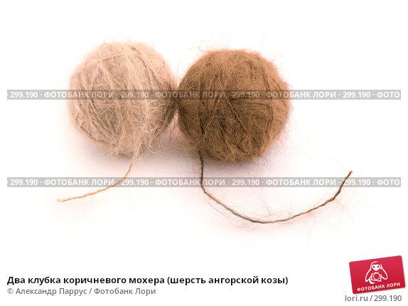 Два клубка коричневого мохера (шерсть ангорской козы), фото № 299190, снято 24 мая 2008 г. (c) Александр Паррус / Фотобанк Лори