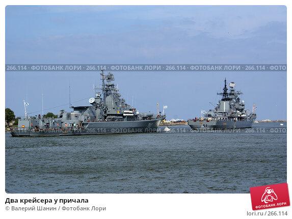 Купить «Два крейсера у причала», фото № 266114, снято 23 июля 2007 г. (c) Валерий Шанин / Фотобанк Лори