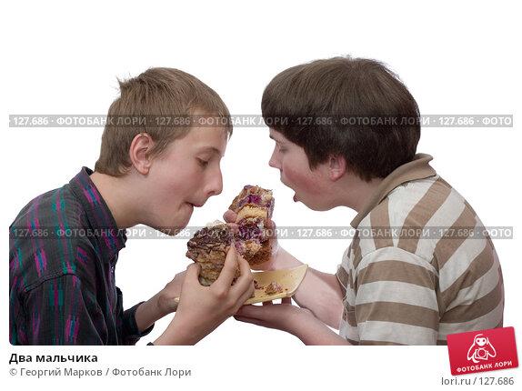Купить «Два мальчика», фото № 127686, снято 28 мая 2006 г. (c) Георгий Марков / Фотобанк Лори