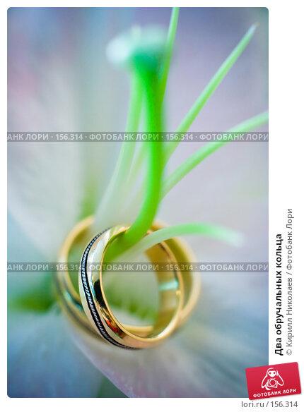 Два обручальных кольца, фото № 156314, снято 7 сентября 2007 г. (c) Кирилл Николаев / Фотобанк Лори