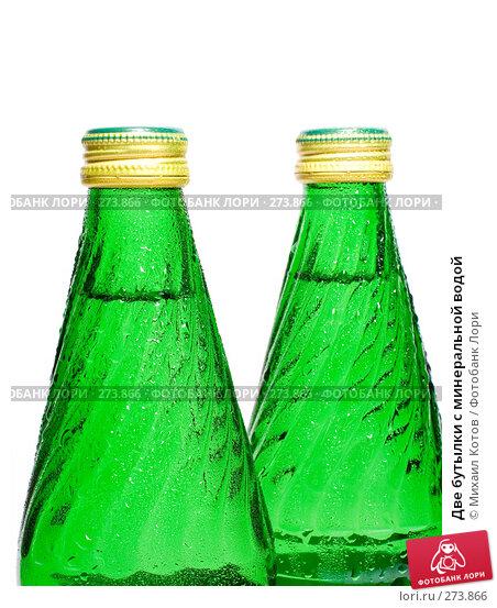 Две бутылки с минеральной водой, фото № 273866, снято 5 мая 2008 г. (c) Михаил Котов / Фотобанк Лори
