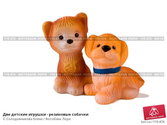 Две детские игрушки - резиновые собачки, фото № 119474, снято 12 февраля 2007 г. (c) Солодовникова Елена / Фотобанк Лори