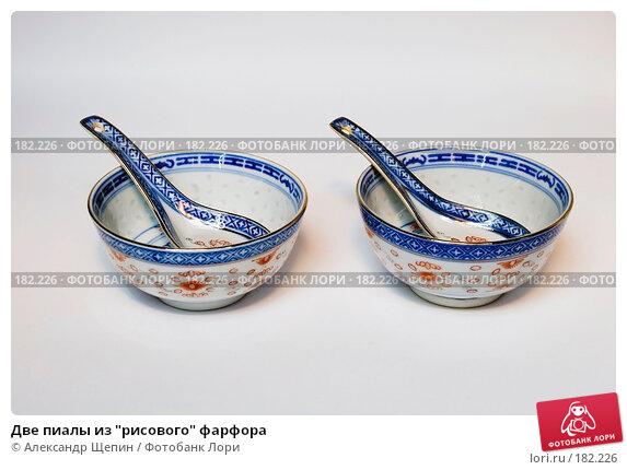 "Две пиалы из ""рисового"" фарфора, эксклюзивное фото № 182226, снято 20 января 2008 г. (c) Александр Щепин / Фотобанк Лори"