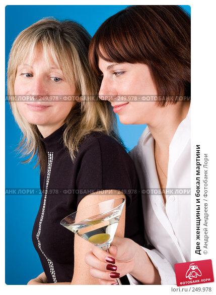 Две женщины и бокал мартини, фото № 249978, снято 25 ноября 2007 г. (c) Андрей Андреев / Фотобанк Лори