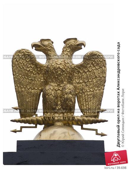 Двуглавый орел на воротах Александровского сада, фото № 39698, снято 25 апреля 2007 г. (c) Юрий Синицын / Фотобанк Лори