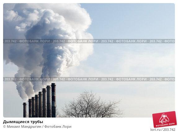 Купить «Дымящиеся трубы», фото № 203742, снято 13 февраля 2008 г. (c) Михаил Мандрыгин / Фотобанк Лори