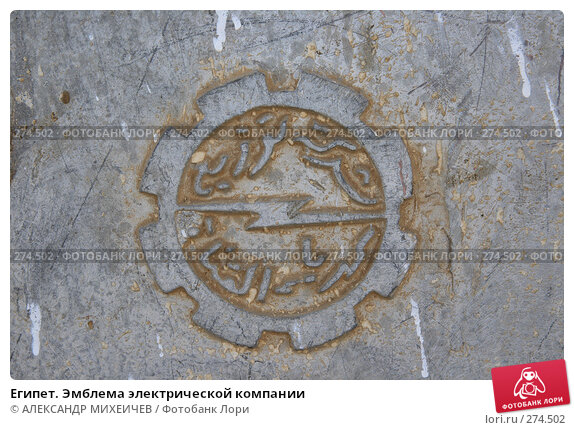 Египет. Эмблема электрической компании, фото № 274502, снято 19 февраля 2008 г. (c) АЛЕКСАНДР МИХЕИЧЕВ / Фотобанк Лори