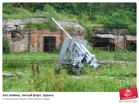 Эхо войны, пятый форт, пушка, фото № 87222, снято 7 сентября 2007 г. (c) Parmenov Pavel / Фотобанк Лори
