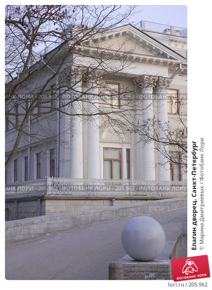 Елагин дворец. Санкт-Петербург, фото № 205962, снято 16 февраля 2008 г. (c) Марина Дмитриевых / Фотобанк Лори