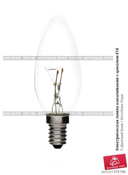 Купить «Электрическая лампа накаливания с цоколем E14», фото № 579198, снято 23 ноября 2008 г. (c) Дмитрий Боев / Фотобанк Лори