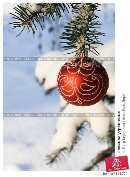 Купить «Елочное украшение», фото № 114770, снято 11 ноября 2007 г. (c) Петр Кириллов / Фотобанк Лори