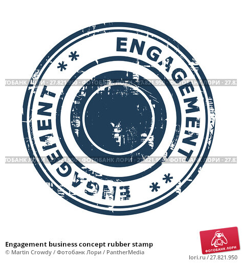 Купить «Engagement business concept rubber stamp», фото № 27821950, снято 24 февраля 2018 г. (c) PantherMedia / Фотобанк Лори