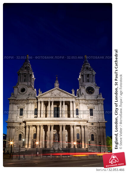 England, London, City of London, St Paul's Cathedral. Стоковое фото, фотограф Steve Vidler / age Fotostock / Фотобанк Лори