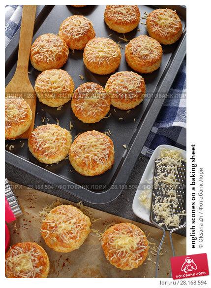 Купить «english scones on a baking sheet», фото № 28168594, снято 28 февраля 2018 г. (c) Oksana Zh / Фотобанк Лори