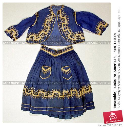 Купить «Ensemble, 1830–70, American, linen, cotton», фото № 32018142, снято 23 мая 2017 г. (c) age Fotostock / Фотобанк Лори