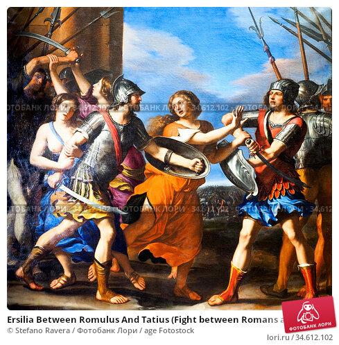 Ersilia Between Romulus And Tatius (Fight between Romans and Sabine... Стоковое фото, фотограф Stefano Ravera / age Fotostock / Фотобанк Лори