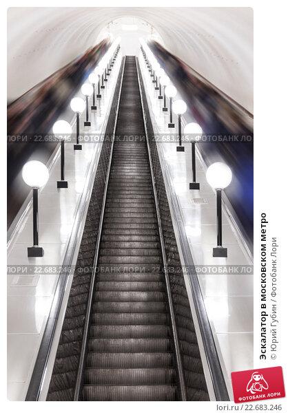 Купить «Эскалатор в московском метро», фото № 22683246, снято 3 марта 2016 г. (c) Юрий Губин / Фотобанк Лори