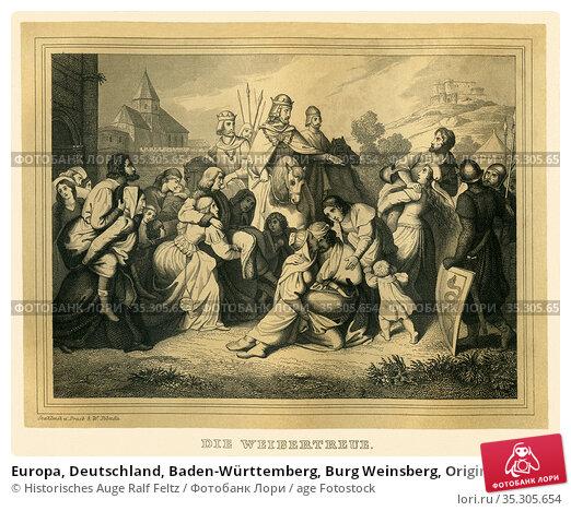 Europa, Deutschland, Baden-Württemberg, Burg Weinsberg, Originaltext... Редакционное фото, фотограф Historisches Auge Ralf Feltz / age Fotostock / Фотобанк Лори