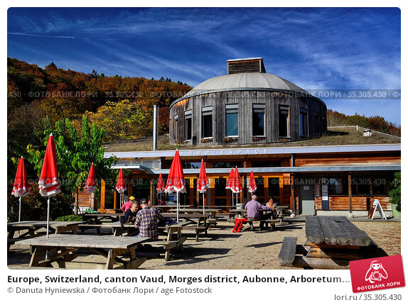 Europe, Switzerland, canton Vaud, Morges district, Aubonne, Arboretum... Стоковое фото, фотограф Danuta Hyniewska / age Fotostock / Фотобанк Лори