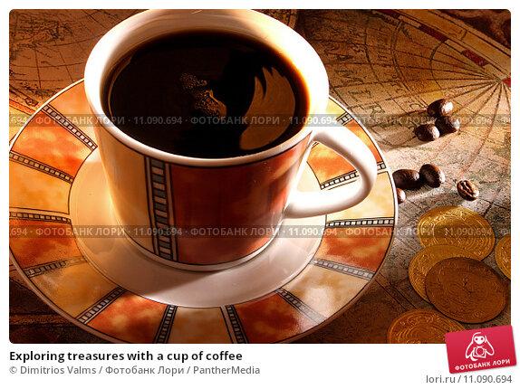 Купить «Exploring treasures with a cup of coffee», фото № 11090694, снято 22 мая 2019 г. (c) PantherMedia / Фотобанк Лори