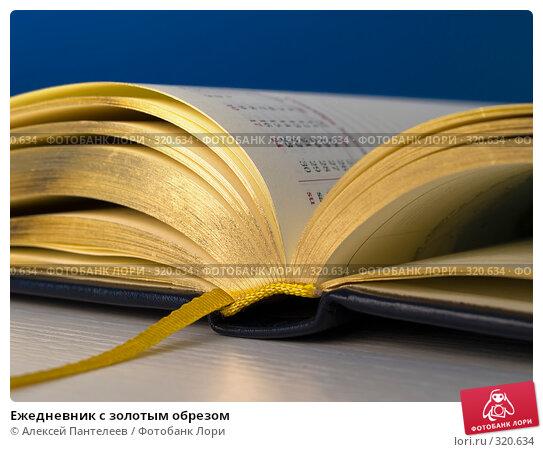 Купить «Ежедневник с золотым обрезом», фото № 320634, снято 11 июня 2008 г. (c) Алексей Пантелеев / Фотобанк Лори