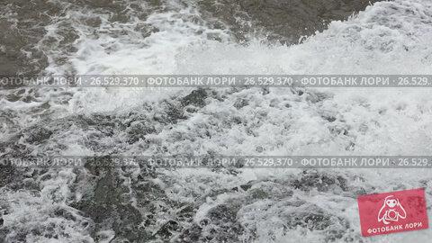 Купить «Falling down spring waterfall», видеоролик № 26529370, снято 22 мая 2017 г. (c) Юрий Брыкайло / Фотобанк Лори