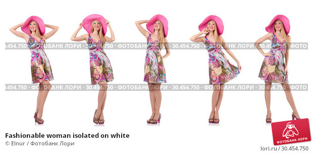 Fashionable woman isolated on white. Стоковое фото, фотограф Elnur / Фотобанк Лори