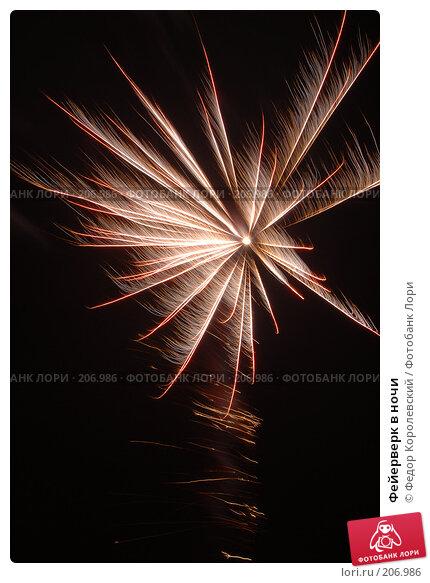 Фейерверк в ночи, фото № 206986, снято 31 декабря 2007 г. (c) Федор Королевский / Фотобанк Лори