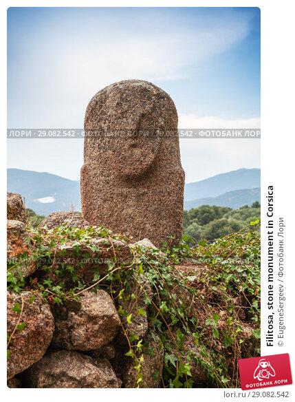 Купить «Filitosa, stone monument in Corsica», фото № 29082542, снято 20 августа 2018 г. (c) EugeneSergeev / Фотобанк Лори