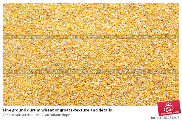 Купить «Fine ground durum wheat or groats -texture and details», фото № 28283918, снято 9 апреля 2018 г. (c) Константин Шишкин / Фотобанк Лори