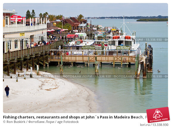 Fishing charters restaurants and shops at john s pass in for Madeira beach fishing charters