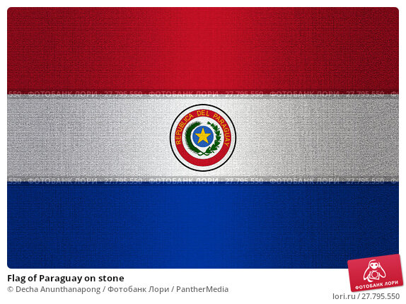 Купить «Flag of Paraguay on stone», фото № 27795550, снято 19 февраля 2018 г. (c) PantherMedia / Фотобанк Лори