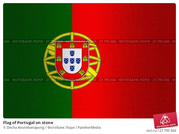 Купить «Flag of Portugal on stone», фото № 27795566, снято 16 октября 2018 г. (c) PantherMedia / Фотобанк Лори