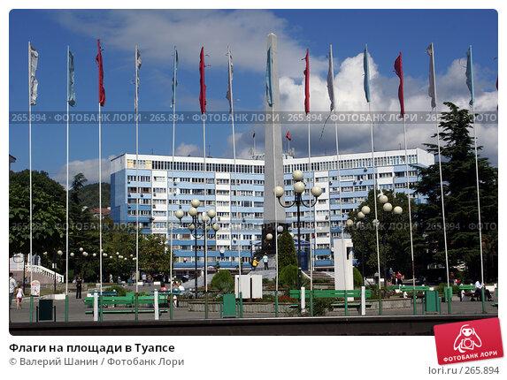 Флаги на площади в Туапсе, фото № 265894, снято 18 сентября 2007 г. (c) Валерий Шанин / Фотобанк Лори