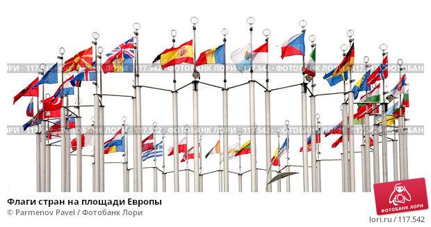 Флаги стран на площади Европы, фото № 117542, снято 13 ноября 2007 г. (c) Parmenov Pavel / Фотобанк Лори