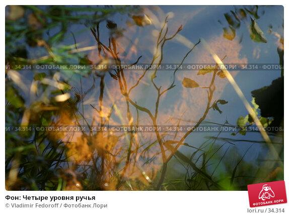 Купить «Фон: Четыре уровня ручья», фото № 34314, снято 4 сентября 2005 г. (c) Vladimir Fedoroff / Фотобанк Лори