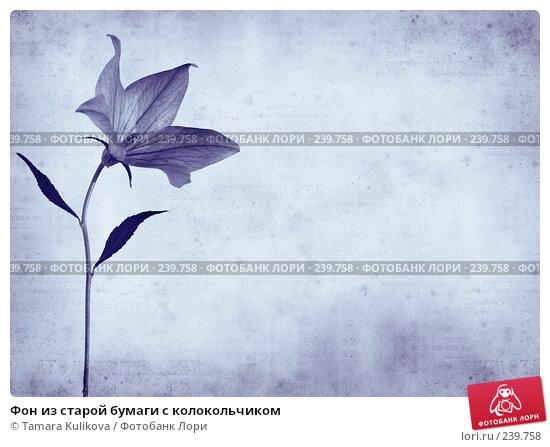 Купить «Фон из старой бумаги с колокольчиком», иллюстрация № 239758 (c) Tamara Kulikova / Фотобанк Лори