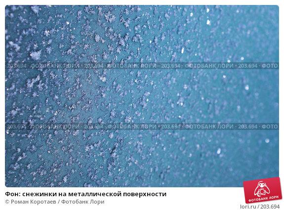 Фон: снежинки на металлической поверхности, фото № 203694, снято 1 января 2008 г. (c) Роман Коротаев / Фотобанк Лори