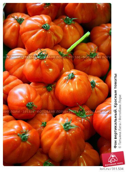 Фон вертикальный. Красные томаты, фото № 311534, снято 21 июля 2007 г. (c) Татьяна Лата / Фотобанк Лори